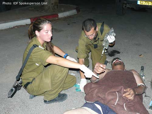 IDF Medics treat Fatah man wounded by Hamas