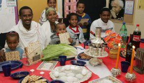 Photo: Immigrants from Ethiopia learn the customs of Passover at absorption center for new immigrants in Safed. Photo by Flash90.
