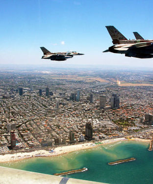 Independence Day fly over off Tel Aviv coast